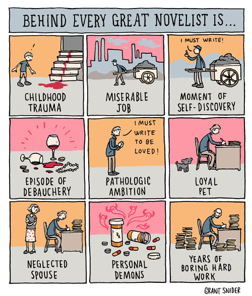 everygreatnovelist1 Behind Every Great Novelist Is...