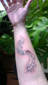 feathertattoooutline e1346526052519 169x300 feathertattoooutline