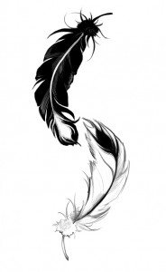 ying yang feather by lilythula d4qd113 184x300 ying yang feather by lilythula d4qd113