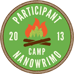 2013 Participant Campfire Circle Badge Camp NaNoWriMo!