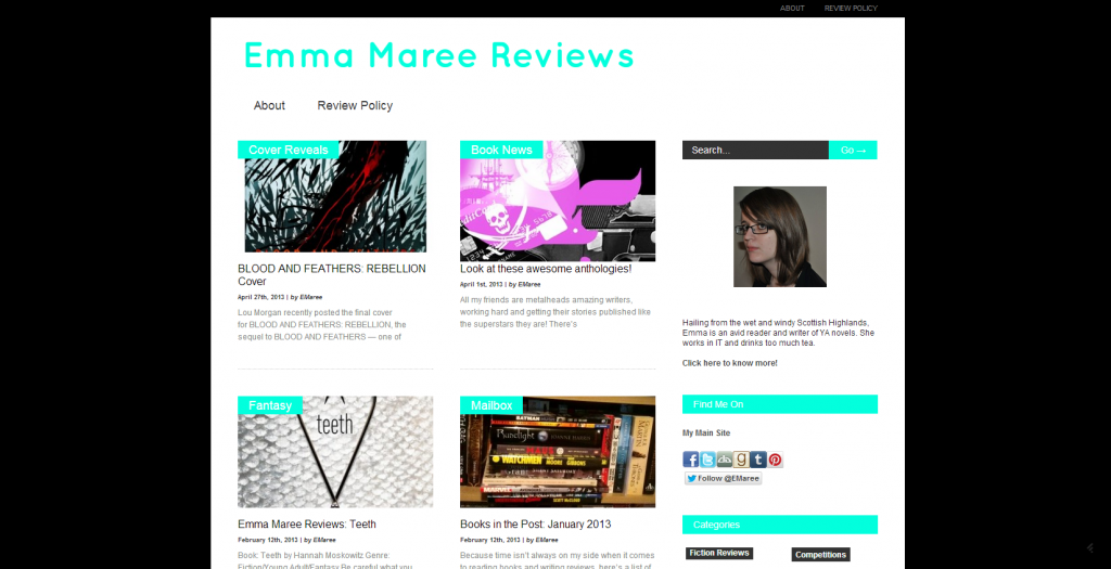 emmamareereviews 1024x525 New Review Site!