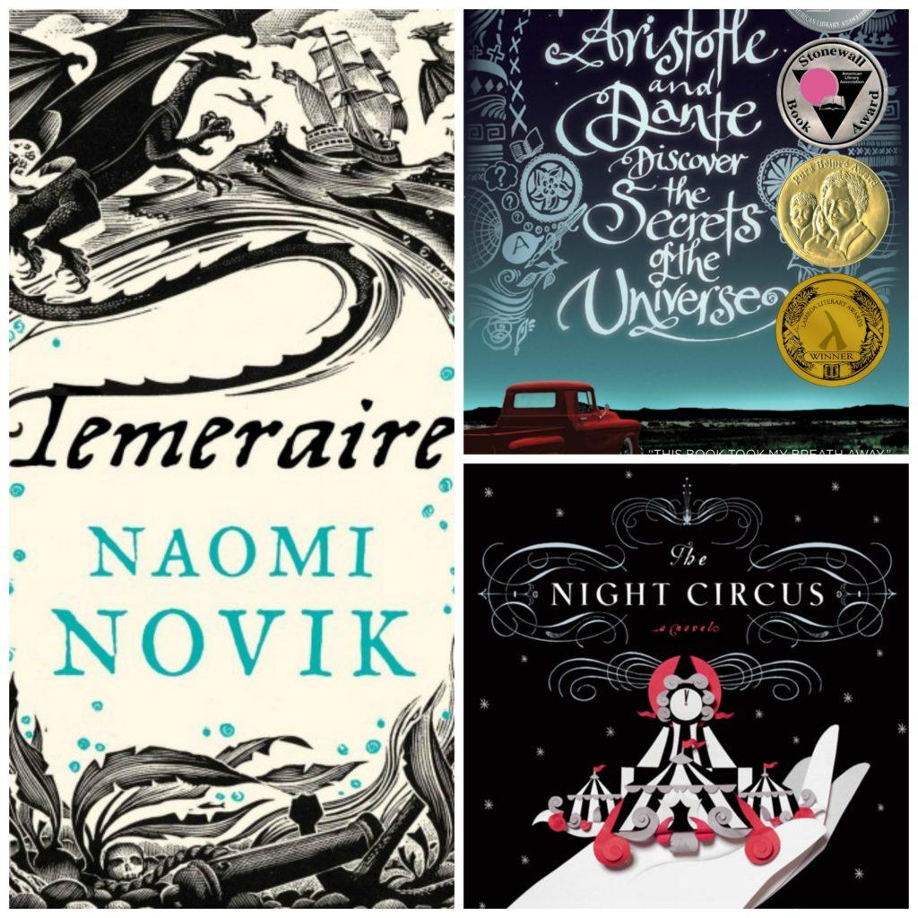 Three favourites: Temeraire, Aristotle & Dante and The Night Circus