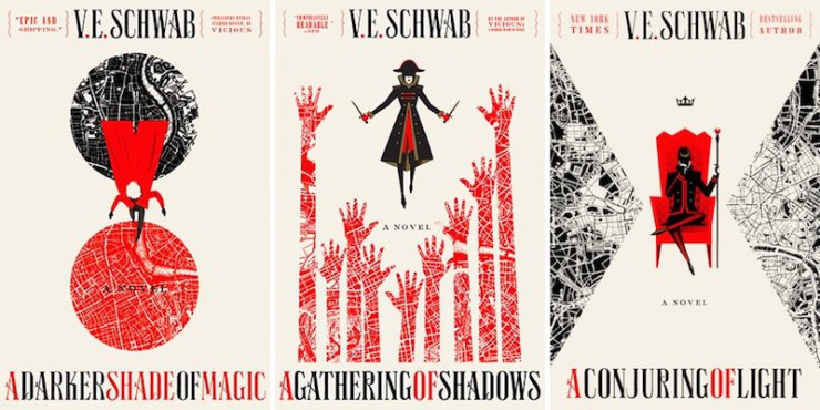 A Darker Shade of Magic series covers